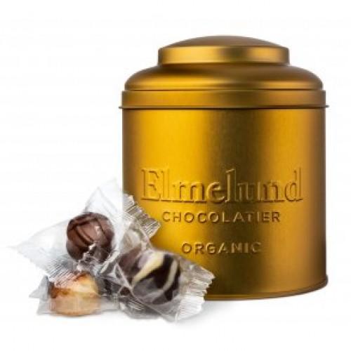 Guld Tin med fyldte chokolader